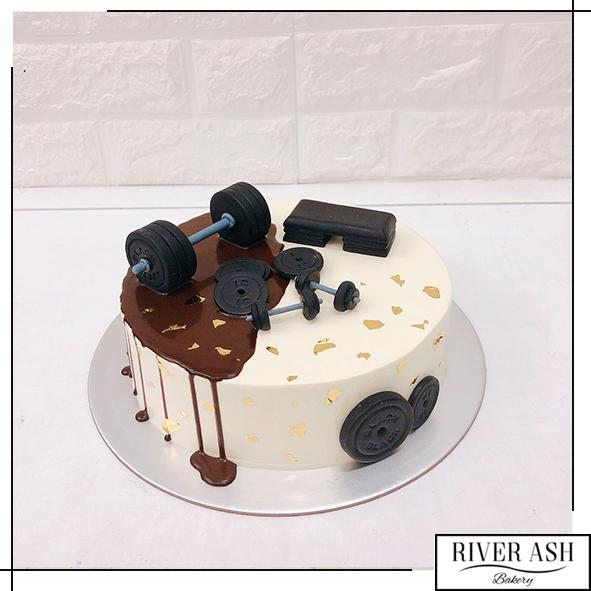 Gym Workout Fitness Cake-River Ash Bakery