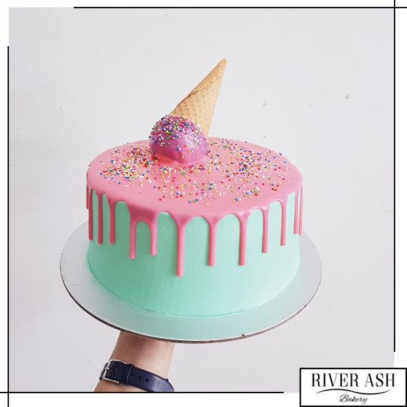 Ice-cream Design Cake (Sponge cake inside)-River Ash Bakery