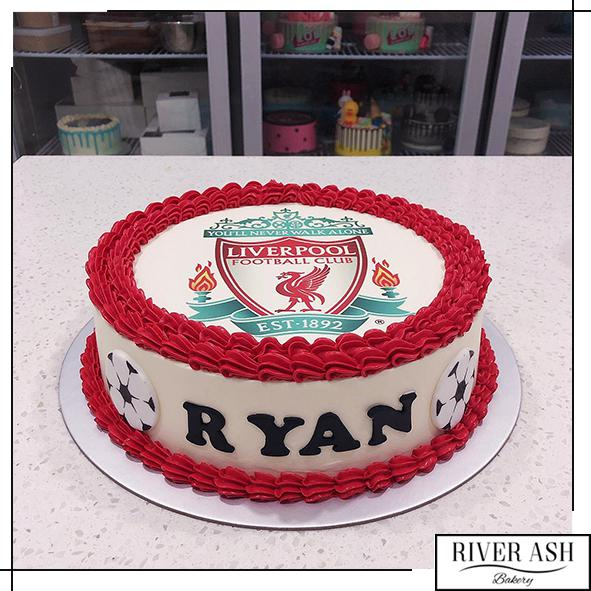 Liverpool Football Cake-River Ash Bakery