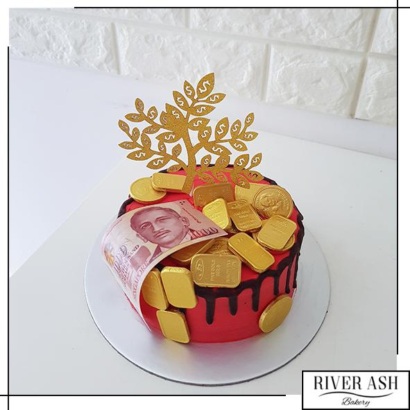 Longevity Gold Coins Money Cake-River Ash Bakery