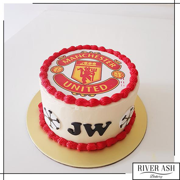 Manchester United Football Cake-River Ash Bakery
