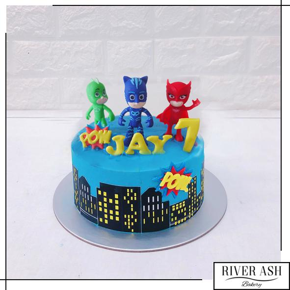 Mask Hero Cake-River Ash Bakery
