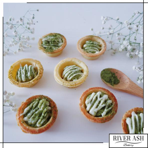 Matcha White Chocolate Tarts-River Ash Bakery