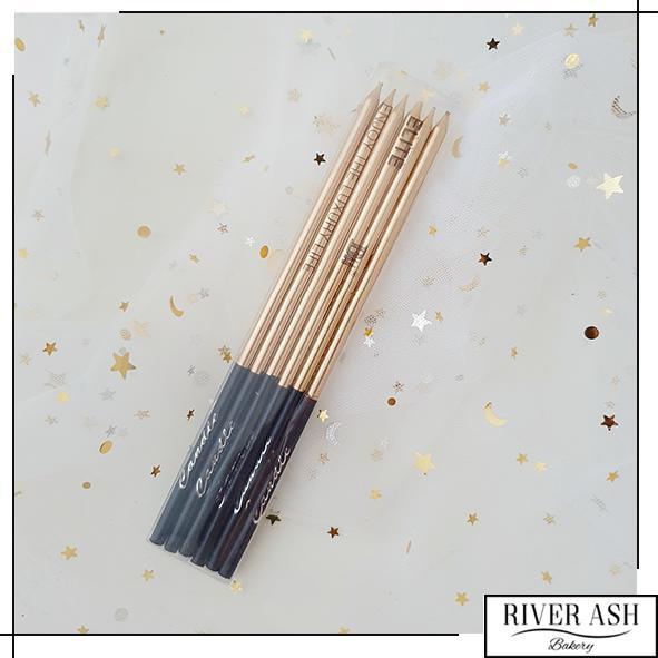 Metallic Gold Tall Candles-River Ash Bakery