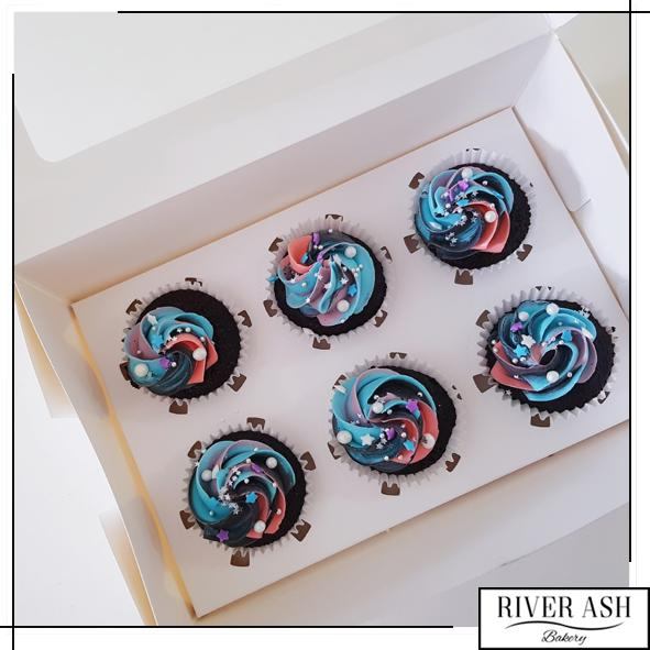 Midnight Galaxy Cupcakes-River Ash Bakery
