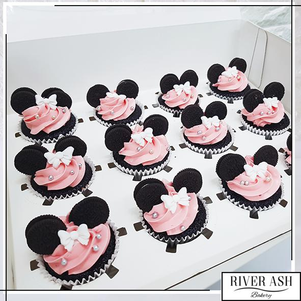 Mini Mouse Cupcakes-River Ash Bakery