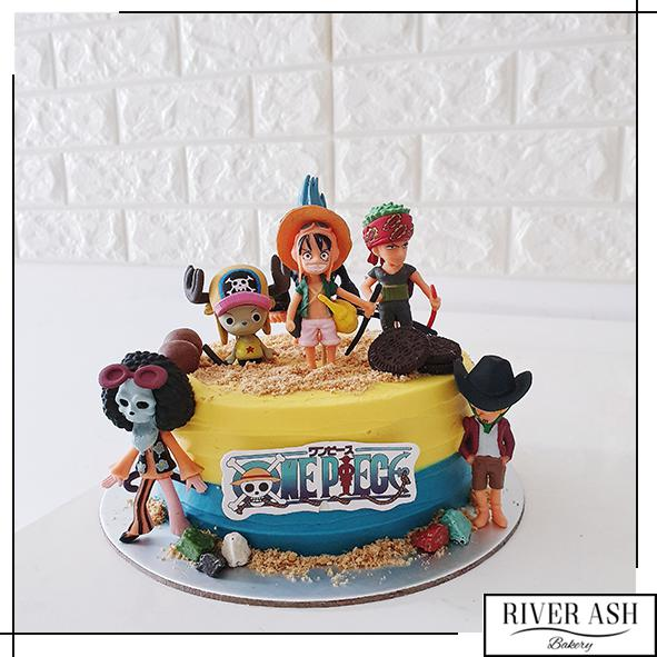 One Piece Japanese Anime Manga Cake-River Ash Bakery