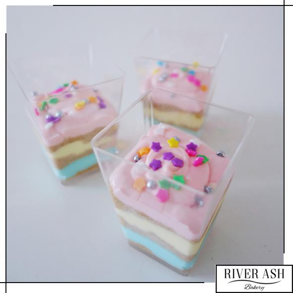 Pastel Cheesecake Cups-River Ash Bakery