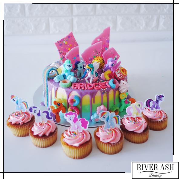 Pony Cake+Cupcakes Bundle-River Ash Bakery