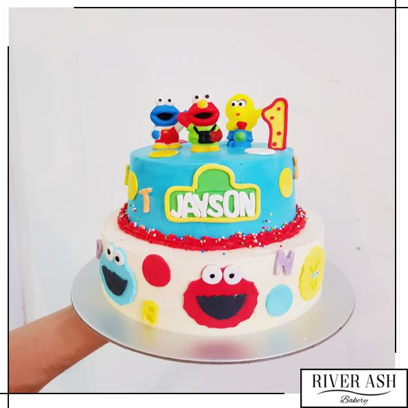 Sesame Street Party Cake-River Ash Bakery