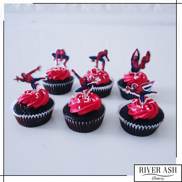 Spider Cupcakes-River Ash Bakery