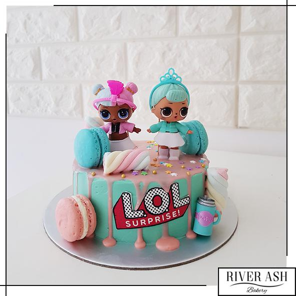 Surprise dolls Cake-River Ash Bakery