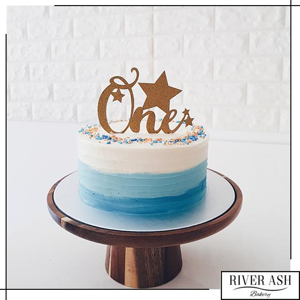 The Ombre Swirls Cake-River Ash Bakery