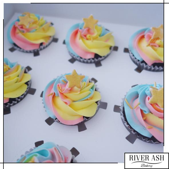 Twinkle Twinkle Little Star Cupcakes-River Ash Bakery