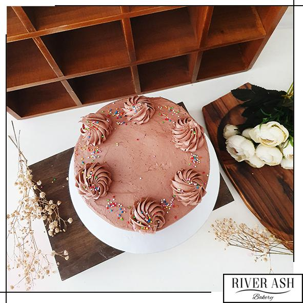 Vegan/Eggless Chocolate cake-River Ash Bakery