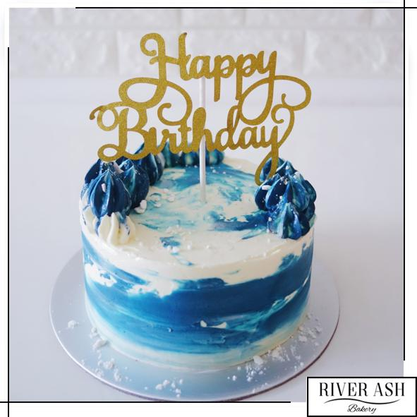 Watercolour Cake (Design 1)-River Ash Bakery