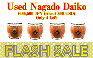 [Flash Sale] Used Nagado Daiko Smile