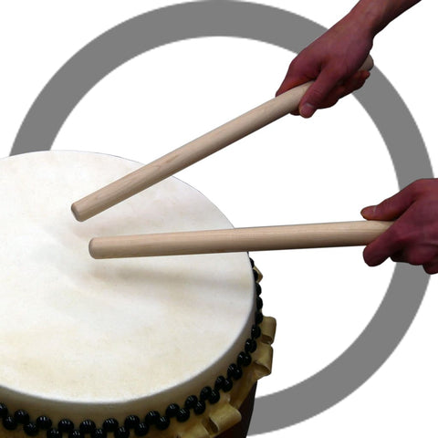 Edge Part of Bachi Hits Center of Drum-head