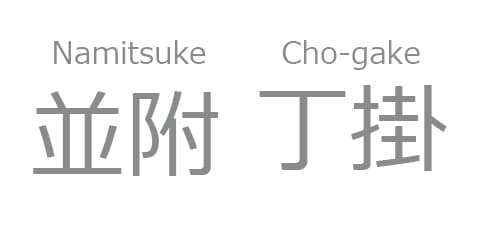 Namitsuke and Cho-gake