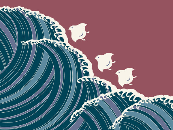 Wave and Birds