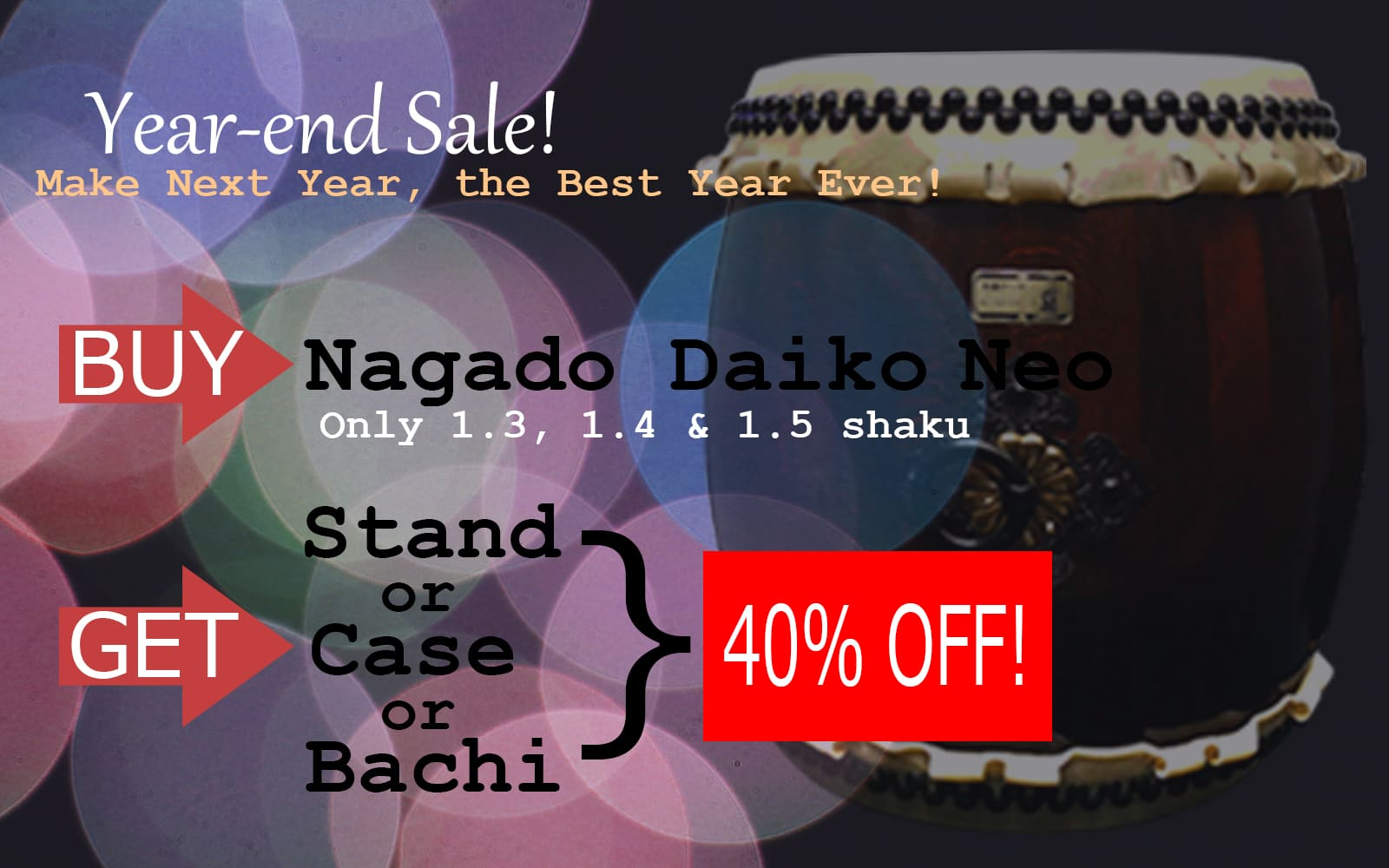 Year-end Sale Nagado Daiko Neo