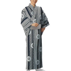 Yukata Robe Sugi 2349 for Men's - Taiko Center Online Shop