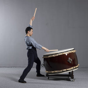 Ohira Daiko Thunder God Set (w/ Fuse Stand) - Taiko Center Online Shop