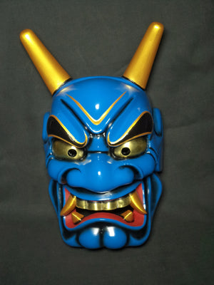 Omen (Japanese Mask) Haraimen Blue ONI14B - Taiko Center Online Shop