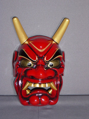 Omen (Japanese Mask) Haraimen Red ONI14R - Taiko Center Online Shop