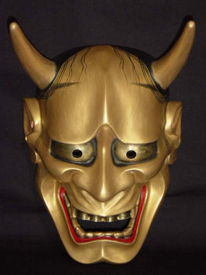 Nohmen (Noh Mask) Gold Hannya NOH01G - Taiko Center Online Shop
