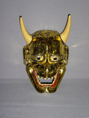 Nohmen (Noh Mask) Gold Leaf Hannya NOH01P - Taiko Center Online Shop
