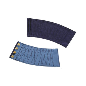 Tabi Maker's Tekkou (Tekou) Wrist Band (4 clasps) (Navy) - Taiko Center Online Shop