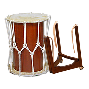 1.3 Shaku Kurinuki Okedo Daiko with Strap Stand - Taiko Center Online Shop