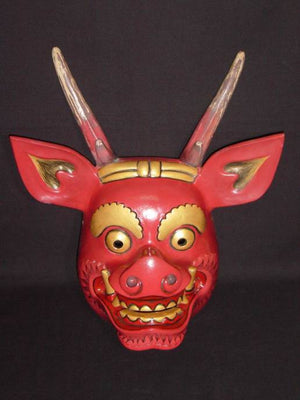 Kyodomen (Japanese Regional Mask) Raijin SP06 - Taiko Center Online Shop