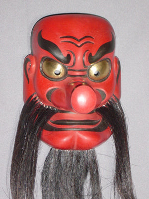 Omen (Japanese Mask) Sarutahikonomikoto FLK16 - Taiko Center Online Shop