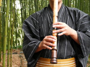 Maple Cherry Bark Shakuhachi (Curved End) (Tozan / Kinko) - Taiko Center Online Shop