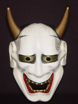 Nohmen (Noh Mask) White Hannya NOH01W - Taiko Center Online Shop