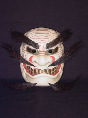 Kyodomen (Japanese Regional Mask) Takeminakatanokami FLK12 - Taiko Center Online Shop