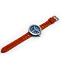 BLUE WITH ORANGE STRAP DEBONAIR (LIMITED EDITION) - Marchand Watch Company