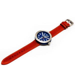 BLUE WITH ORANGE STRAP DEBONAIR