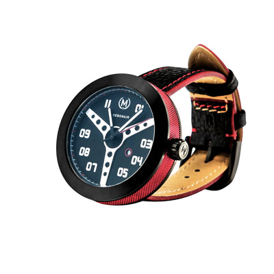 RED AND BLACK DEBONAIR (20% OFF WITH CODE 'FATHER') - Marchand Watch Company
