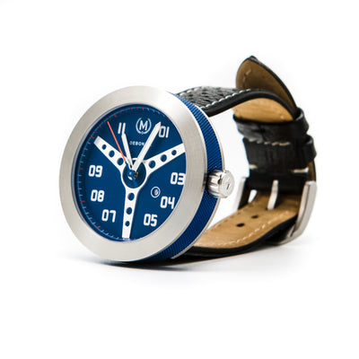 BLUE WITH BLACK STRAP DEBONAIR (20% OFF WITH CODE 'FATHER') - Marchand Watch Company