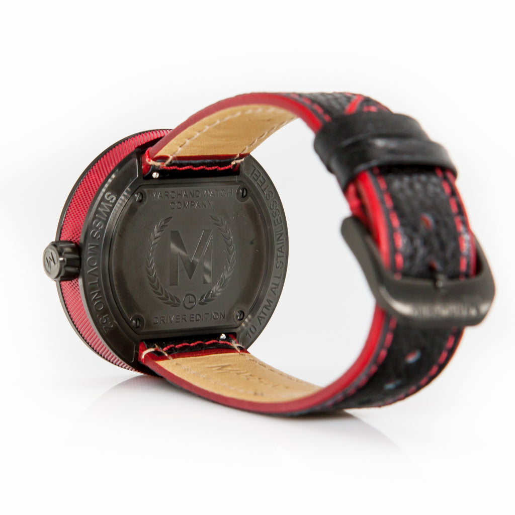 RED AND BLACK DEBONAIR (LIMITED EDITION) - Marchand Watch Company