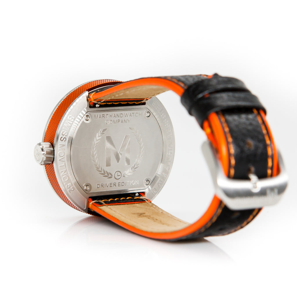 BLACK AND ORANGE DEBONAIR - Marchand Watch Company