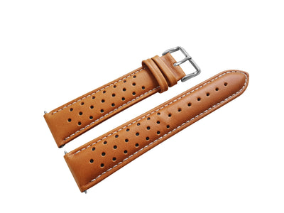 TAN LEATHER RALLY WATCH STRAP - Marchand Watch Company