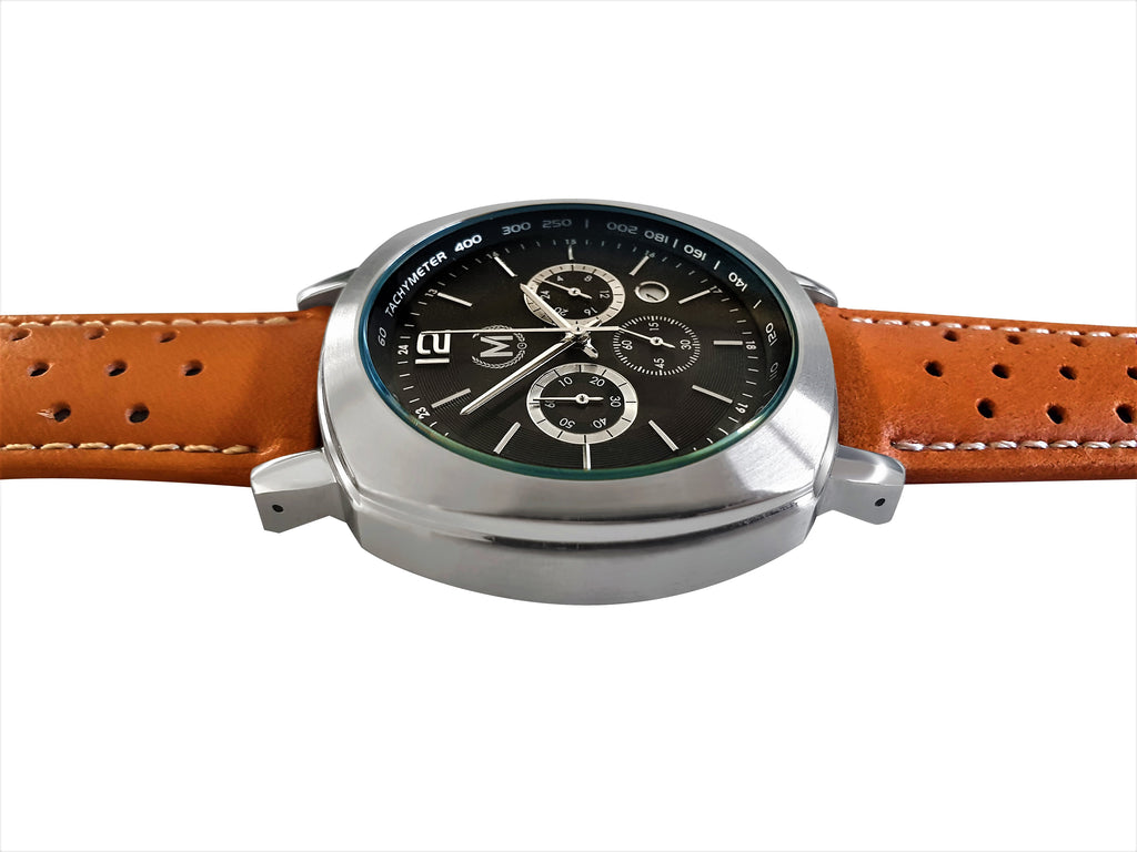 GRANDSPORT CHRONOGRAPH, TAN STRAP (COMING SOON) - Marchand Watch Company