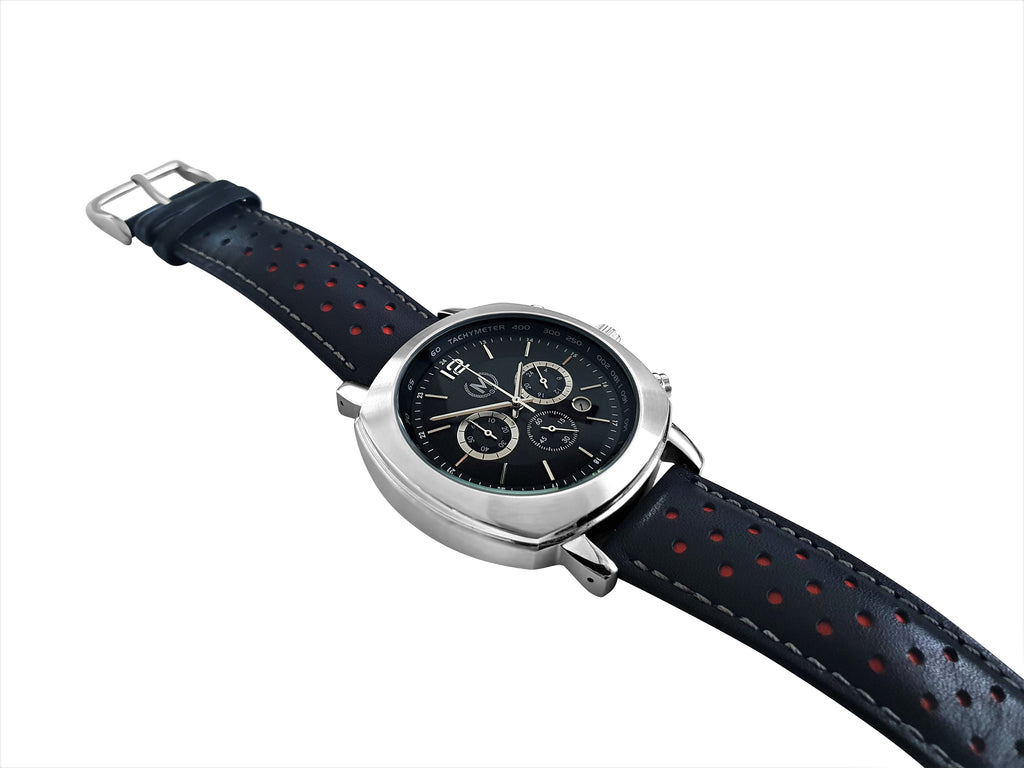 GRANDSPORT CHRONOGRAPH, BLACK AND RED STRAP
