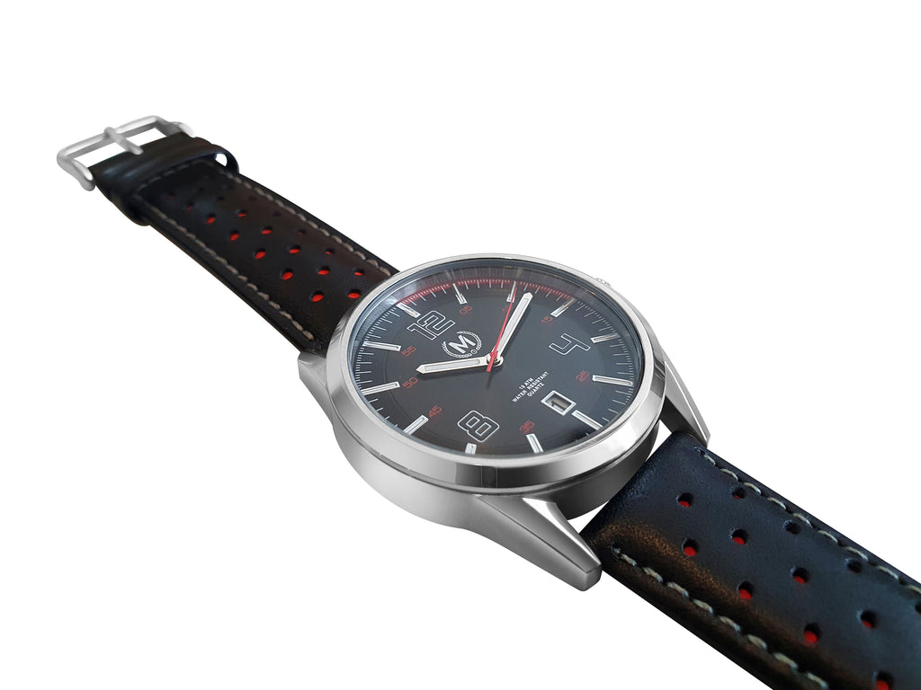 SPORTLINE, BLACK AND RED STRAP