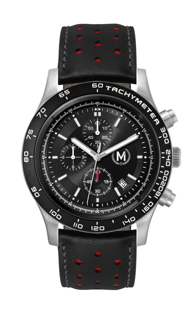 ESSES GT CHRONOGRAPH, BLACK AND RED STRAP