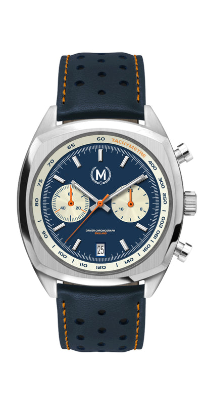 DRIVER CHRONOGRAPH MKII, BLUE REVERSE PANDA DIAL (COMING APRIL 2021)